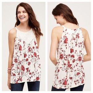 Anthro One September Floral Tank Top M